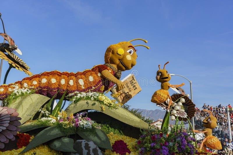 Ville de la nature d'Alhambra, flotteur de style d'insecte dans Rose célèbre photographie stock