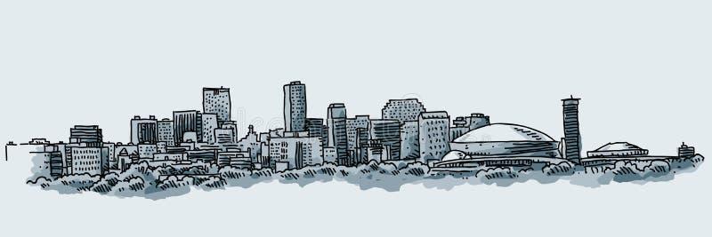 Ville de la Nouvelle-Orléans illustration libre de droits