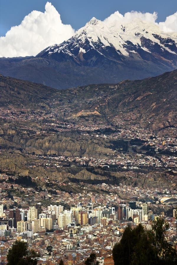 Ville de La Paz - la Bolivie photo stock