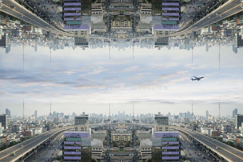 Ville de la science fiction image libre de droits