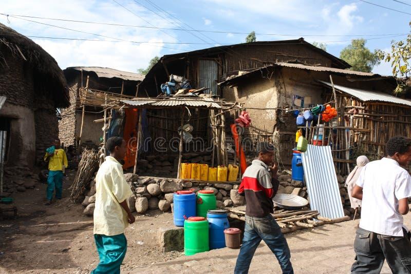 Ville de Lalibela photographie stock libre de droits
