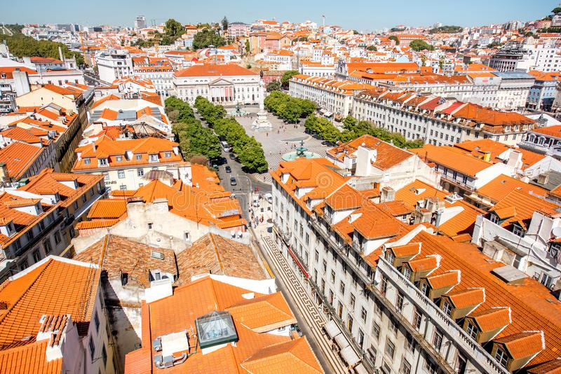 Ville de Lisbonne au Portugal photo stock
