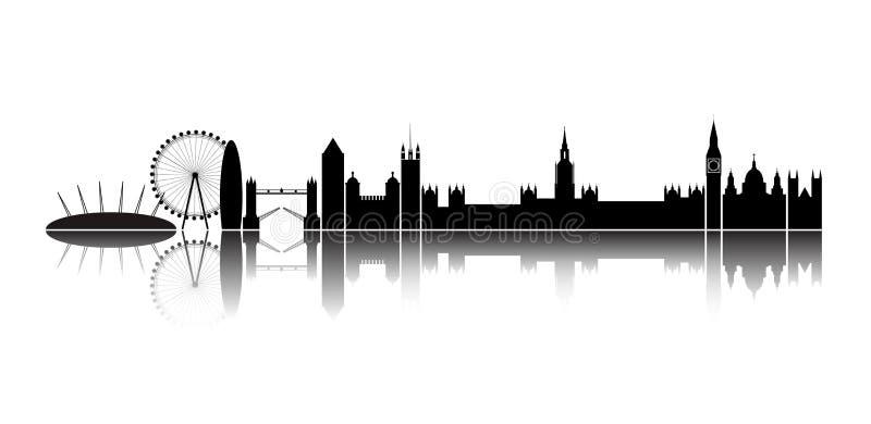 Ville de Londres d'horizon. illustration de vecteur
