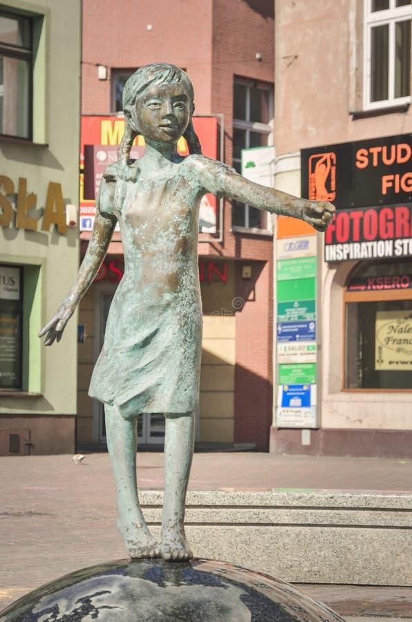 Ville de Lubliniec en Pologne photos libres de droits