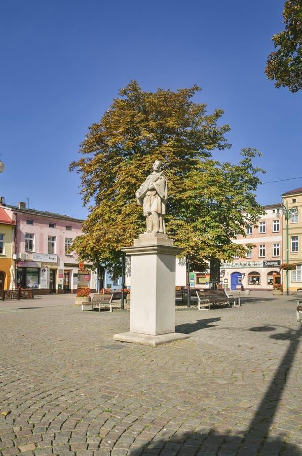 Ville de Lubliniec en Pologne photographie stock libre de droits