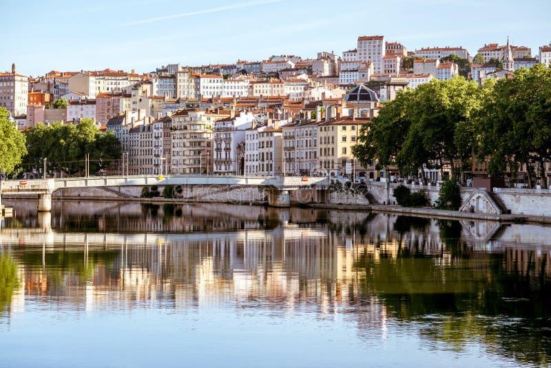 Ville de Lyon dans les Frances image stock