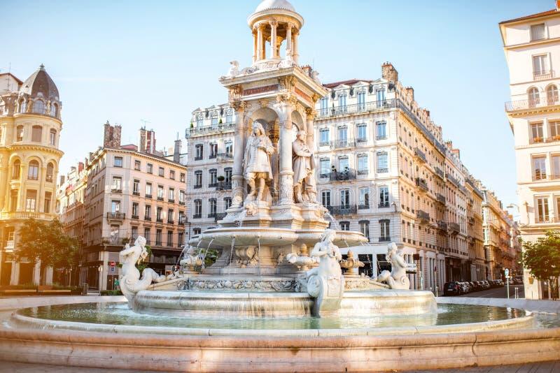 Ville de Lyon dans les Frances photographie stock libre de droits