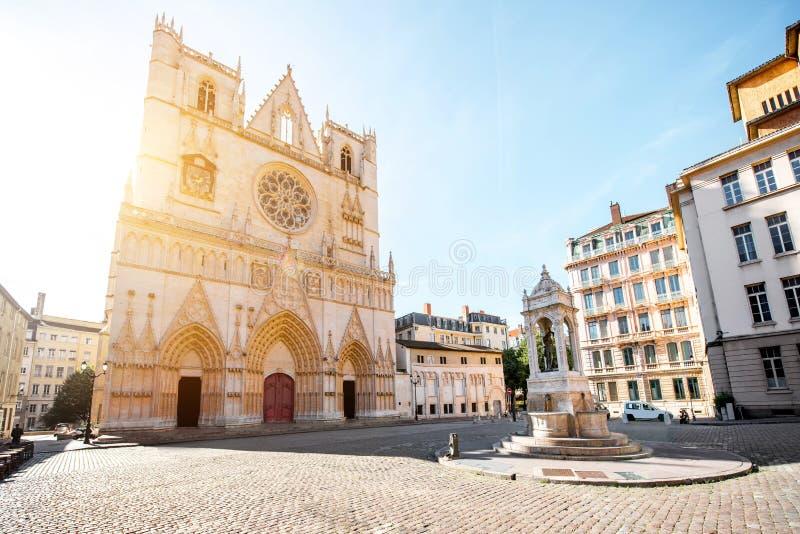 Ville de Lyon dans les Frances image libre de droits