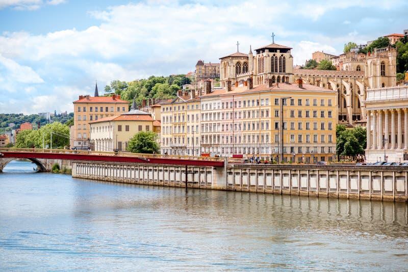 Ville de Lyon dans les Frances photos stock