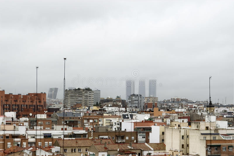 Ville de Madrid images libres de droits