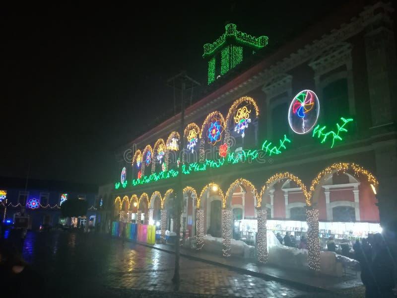 Ville de magie de Huauchinango photographie stock libre de droits