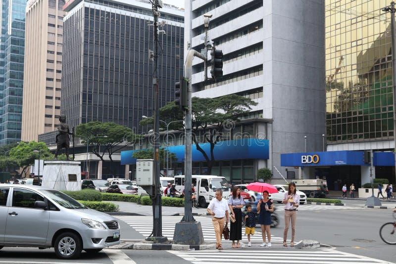 Ville de Makati, Manille image libre de droits