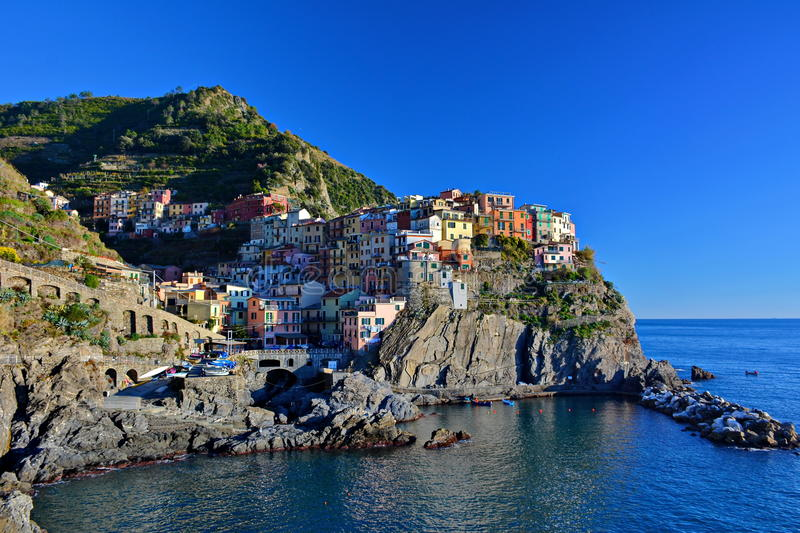 Ville de Manarola, Cinque Terre, Italie photos libres de droits