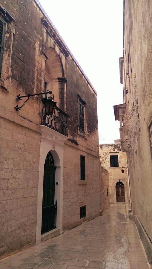 Ville de Mdina sur l'île de Malte photo libre de droits
