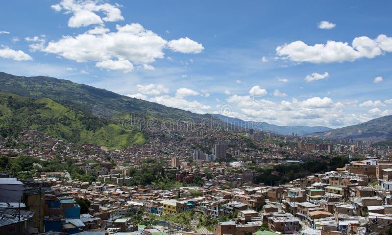 Ville de Medellin en Colombie photos libres de droits