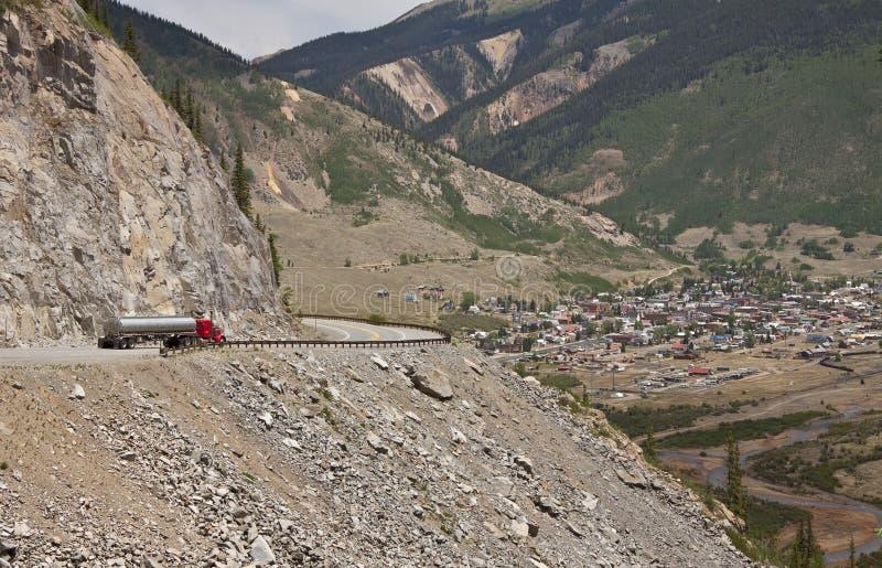 Ville De Montagne Rocheuse Images libres de droits