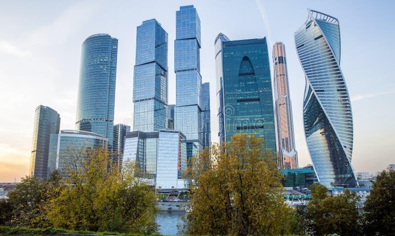 Ville de Moscou - centre international d'affaires de Moscou, Russie photographie stock libre de droits