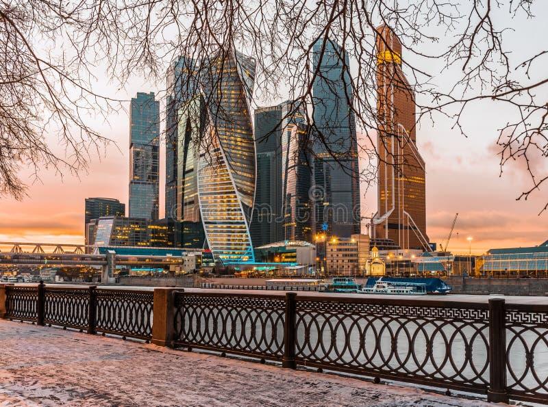Ville de Moscou de centre d'affaires photo libre de droits