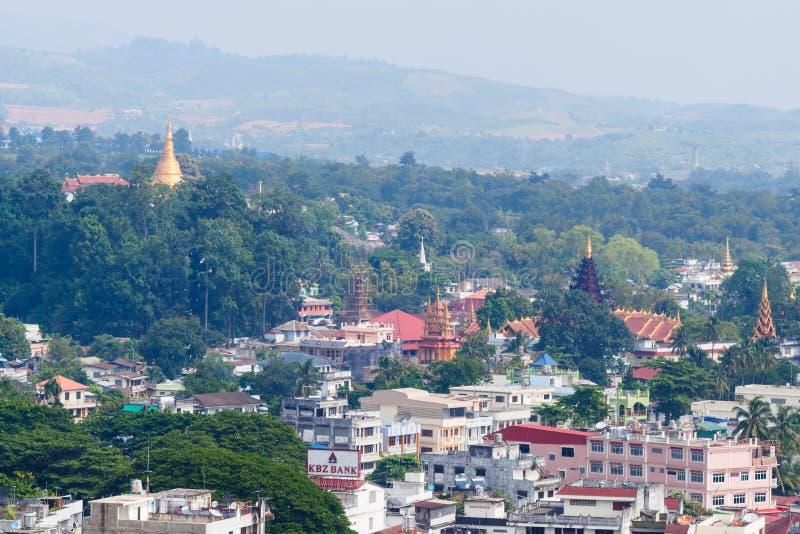 Ville de myanmar image libre de droits