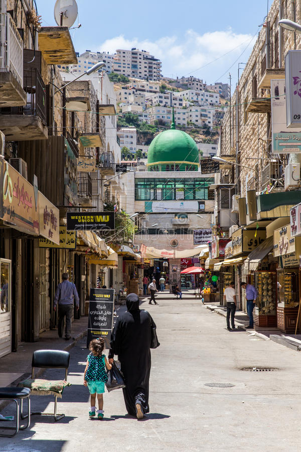 Ville de Nablus, Palestine photographie stock