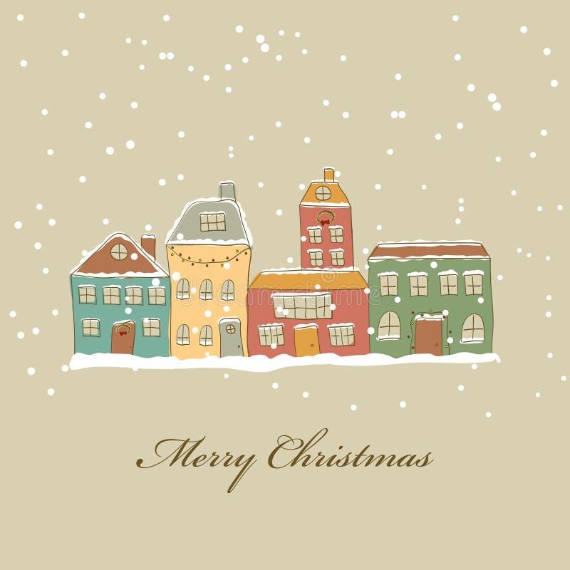 Ville de Noël illustration de vecteur