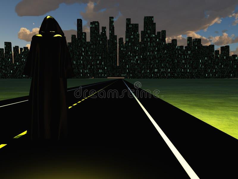 Ville de nuit illustration libre de droits