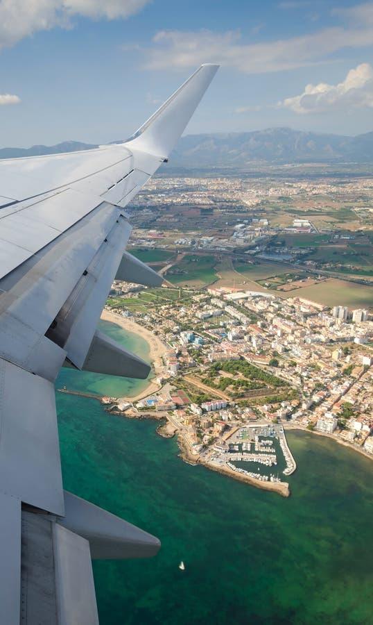 Ville de Palma - vue plate image stock