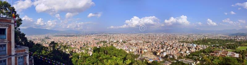 Ville de panorama de Katmandou, Népal photo libre de droits