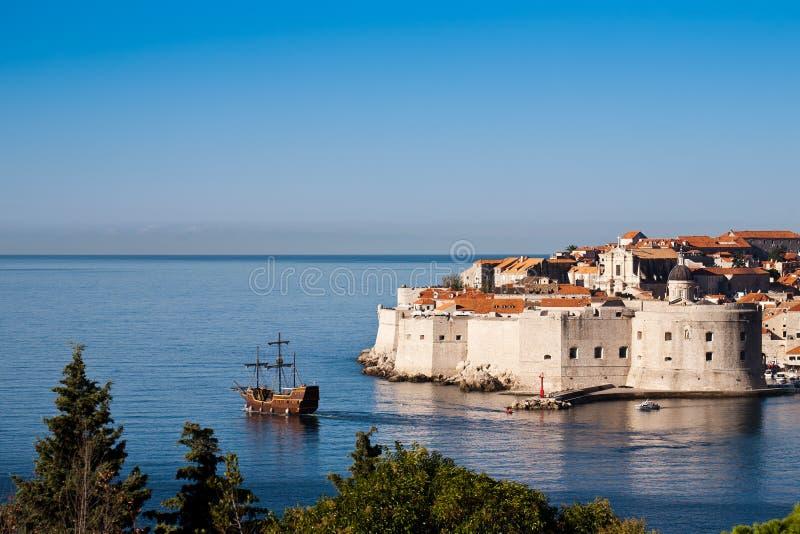 Ville de patrimoine mondial vieille de Dubrovnik photographie stock libre de droits