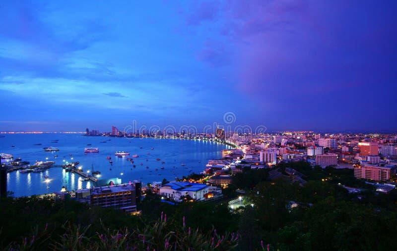 Ville de Pattaya en Thaïlande photographie stock