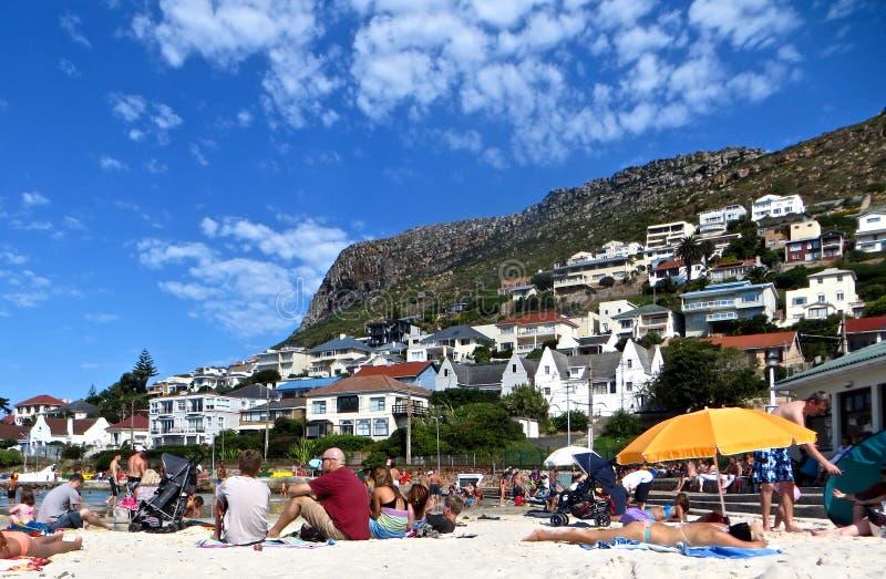 Ville de plage photographie stock