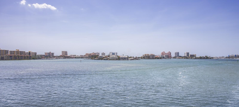 Ville de plage de Clearwater images libres de droits