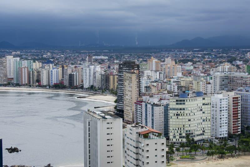 Ville de plage de Vicente de sao image libre de droits