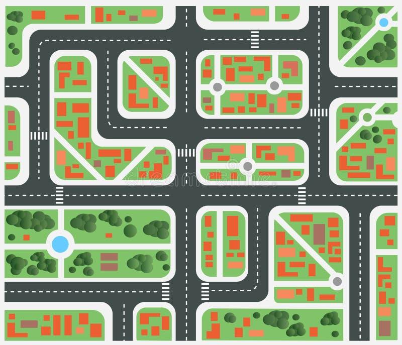 Ville de plan illustration de vecteur