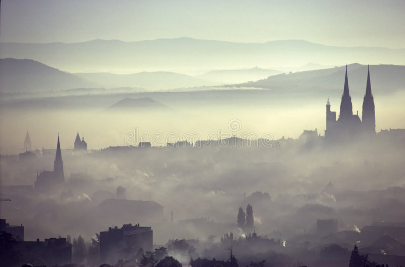 Ville de pollution images libres de droits