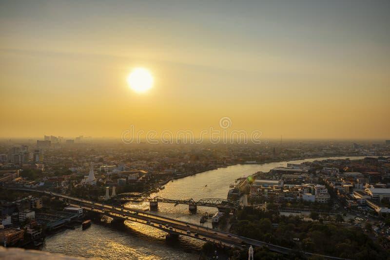 Ville de pollution photographie stock libre de droits