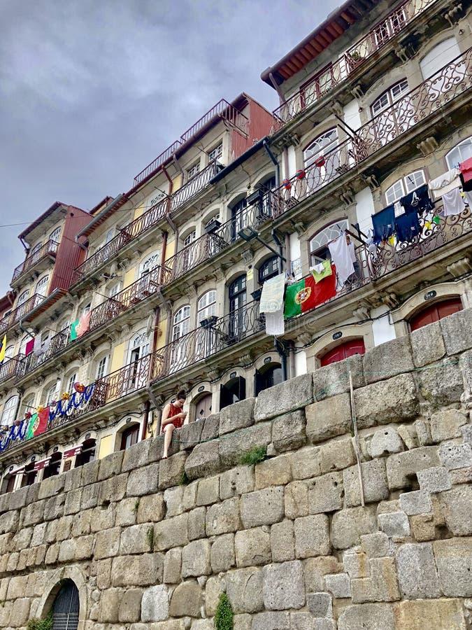 Ville de Porto au Portugal Balcon, extérieur photo libre de droits