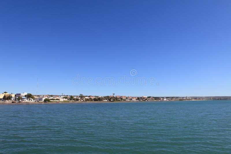 Ville de Puerto Madryn en Argentine photographie stock libre de droits