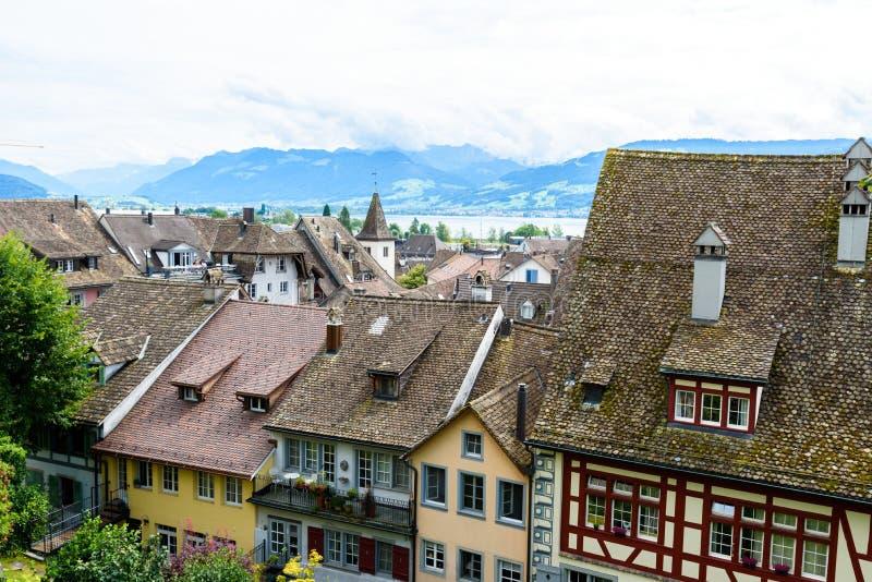 Ville de Rapperswil au lac Zurich, Suisse - destination de voyage en Europe photos libres de droits