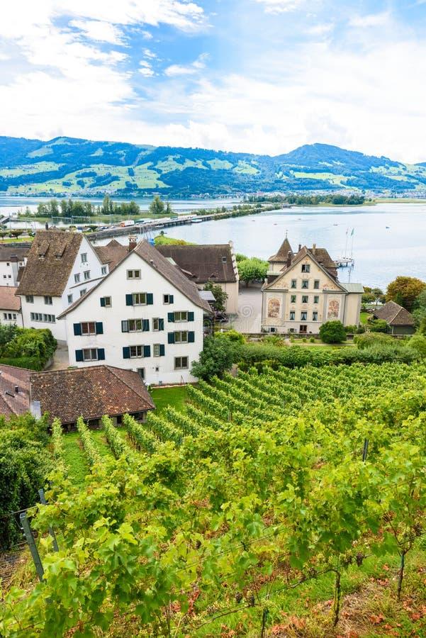 Ville de Rapperswil au lac Zurich, Suisse - destination de voyage en Europe image libre de droits