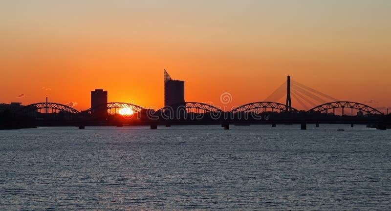 Ville de Riga image libre de droits