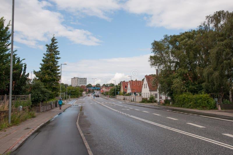 Ville de Ringsted au Danemark images libres de droits