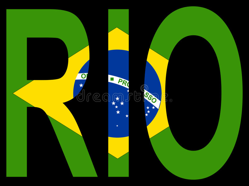 Ville de Rio de Janerio illustration stock