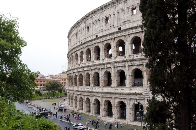 Ville de Rome avec le grand colosseum, Italie Architecture de colosseo de Rome en Italie Voyage vers Rome - capitale de l'Italie  photos libres de droits