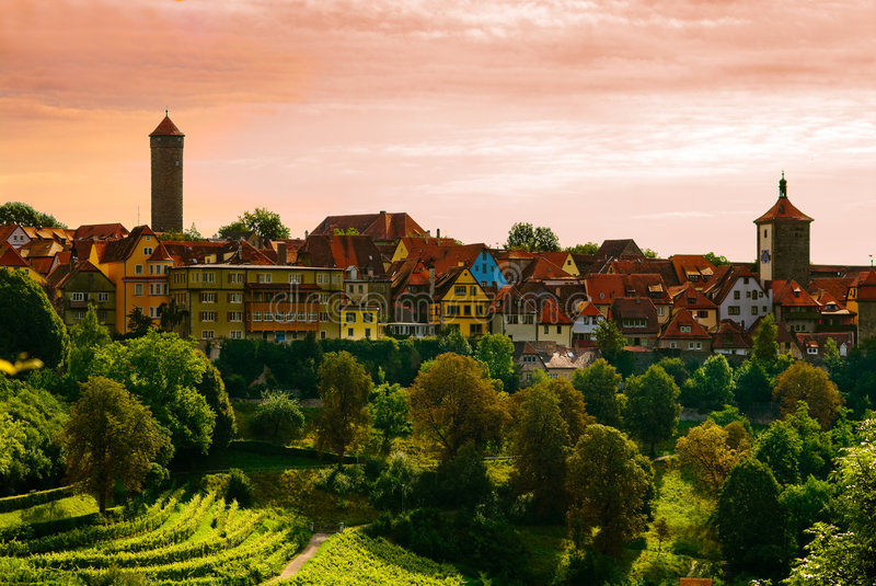 Ville de Rothenburg image stock