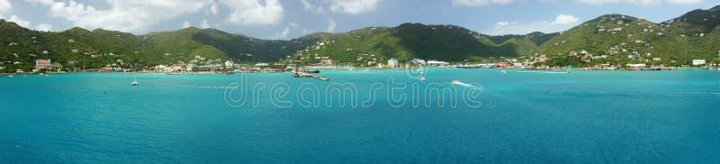 Ville de route, Tortola, Îles Vierges britanniques image stock