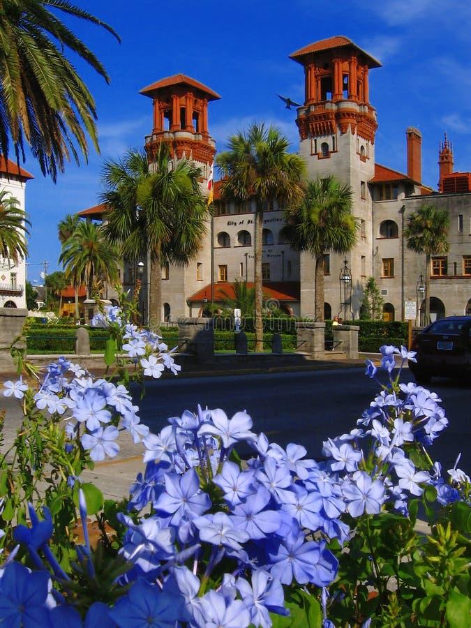 Ville de rue Augustine, la Floride, USA images libres de droits