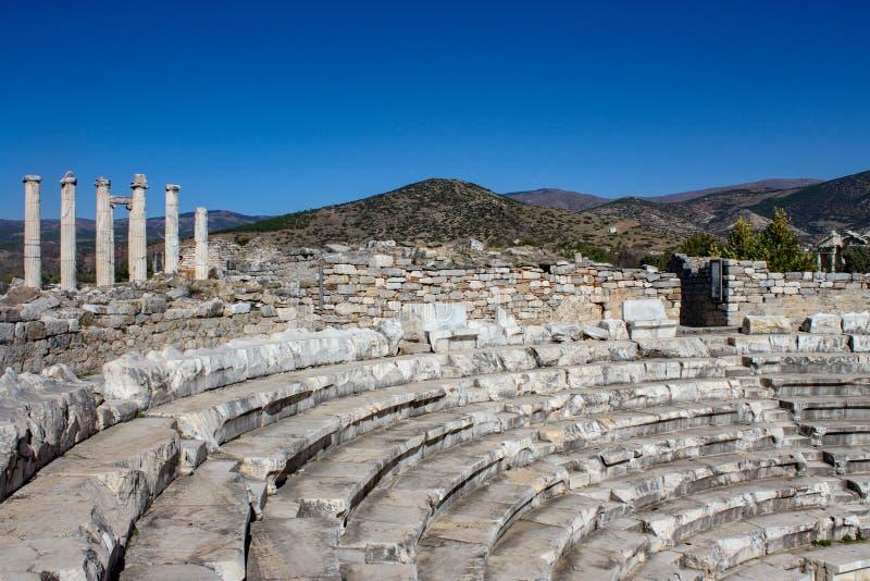 Ville de ruine d'Ephesus en Turquie image libre de droits