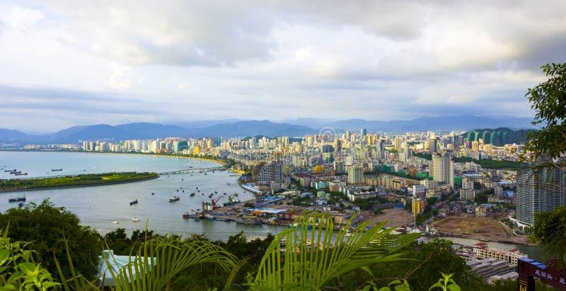 Ville de Sanya sur l'île de Hainan photos stock