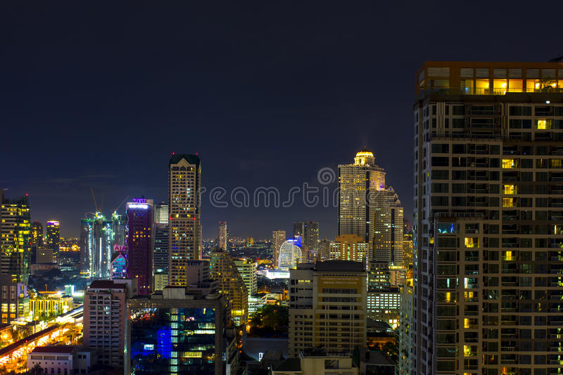 Ville de Sathorn photo libre de droits